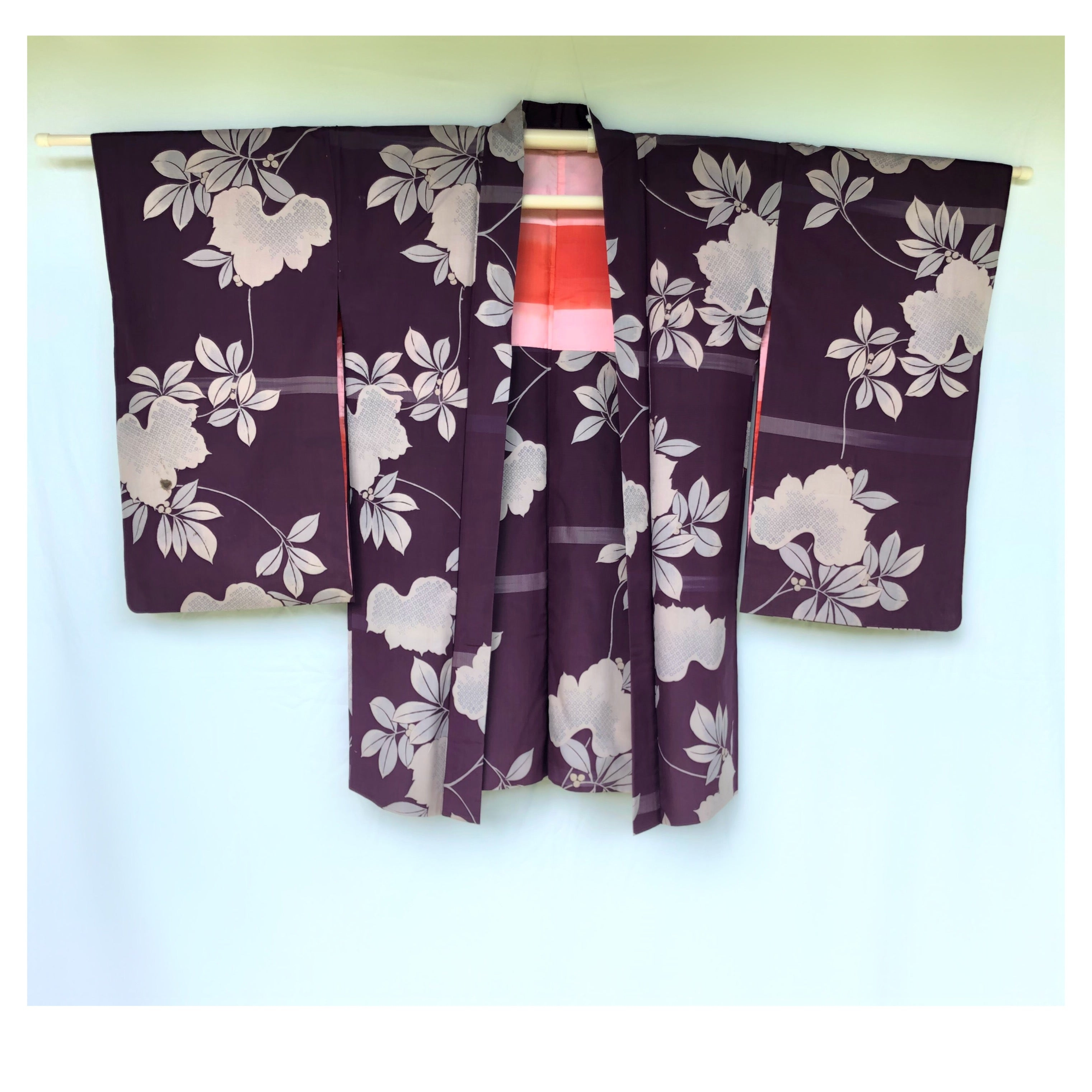 Antique haori fleuri.