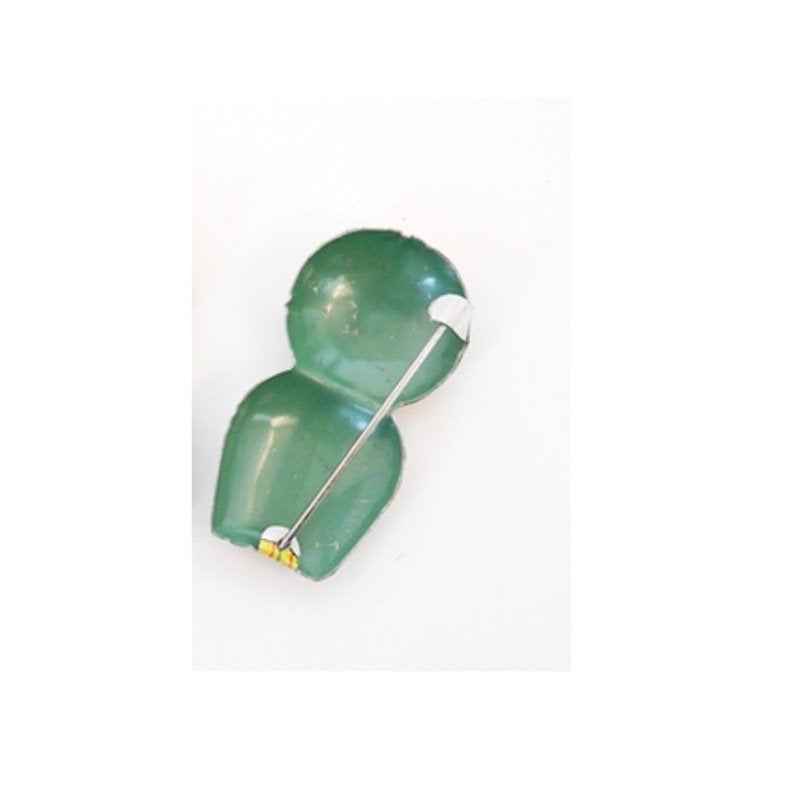Kokeshi brooch GREEN
