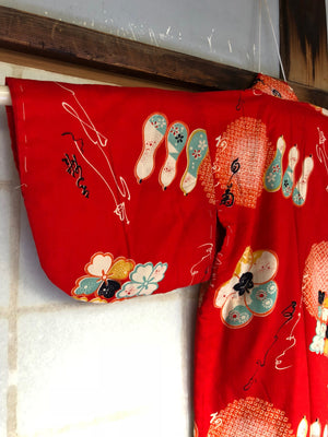 Kids vintage Kimono. Casual for winter.