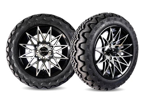 Athena Gloss Black and Machined Alloy Wheels
