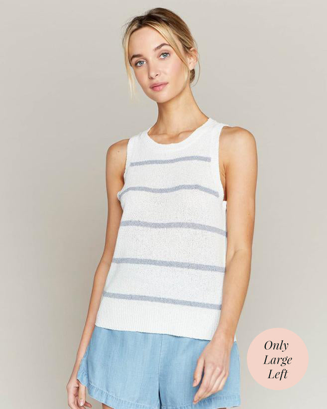 Striped Coastal Tank