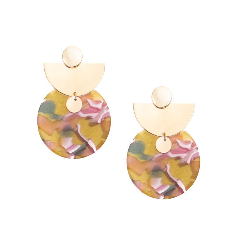 Chloe Acrylic Statement Earrings
