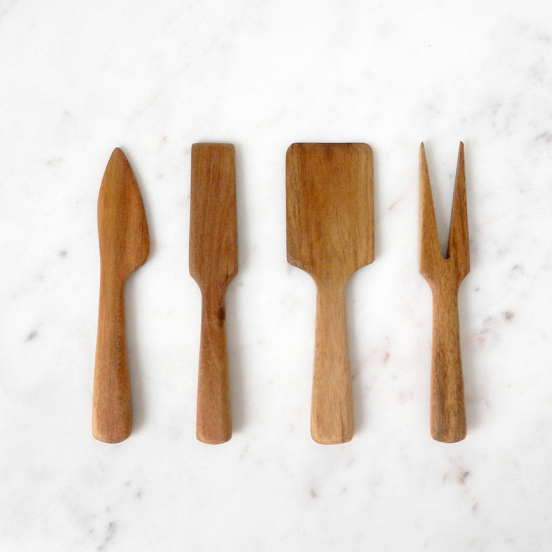 Acacia Wood Cheese Set