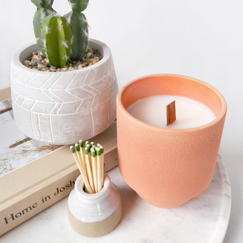 The Grand Canyon's Cactus Flower & Fern Candle