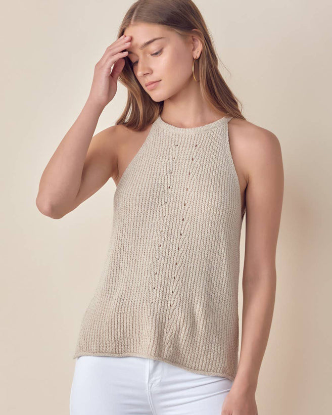 High Neck Sweater Tank