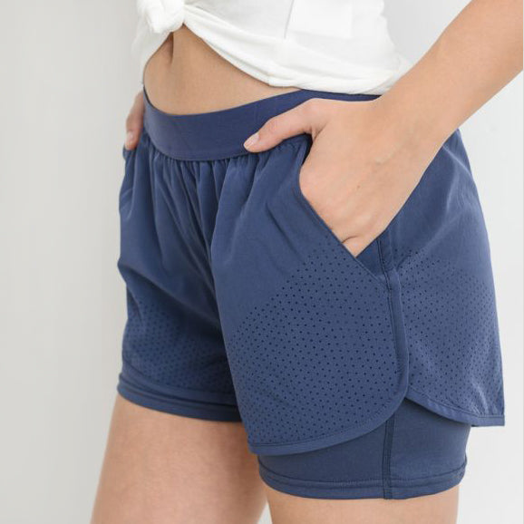 Hybrid Perforated Active Shorts