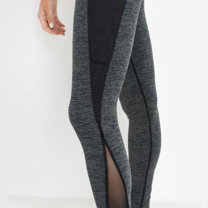 Highwaist Splice Mesh Pocket Leggings