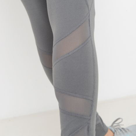 Highwaist Zig Zag Mesh Pocket Leggings