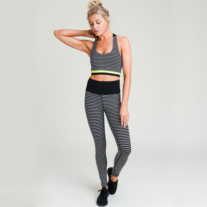 Neon Striped Highwaisted Leggings