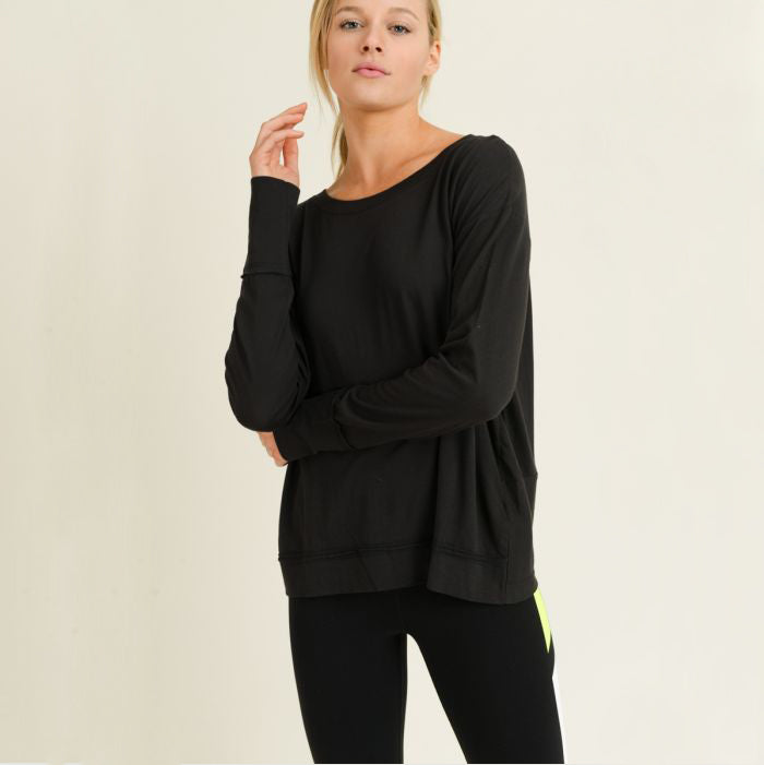 Twist Cut-Out Longsleeve Top