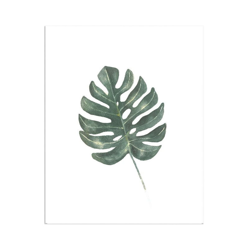Monstera Leaf Print