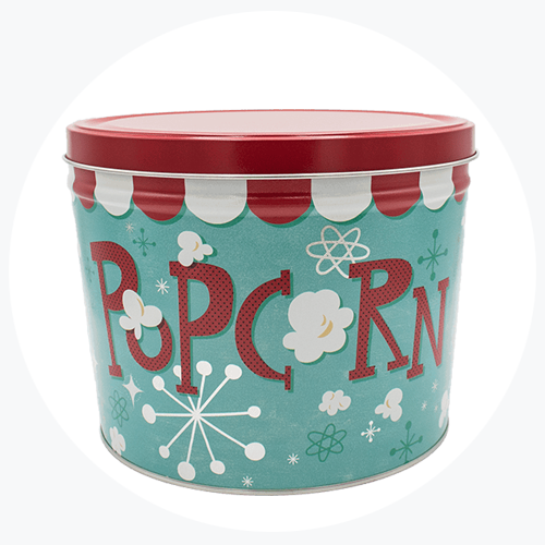 Retro Popcorn Tin (2 Gallon - 3 Flavors)