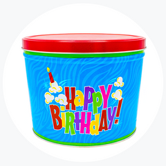 Birthday Pop Popcorn Tin (2 Gallon - 2 Flavors)