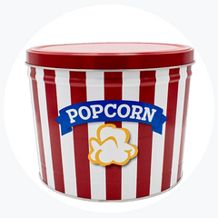 Red & White Popcorn Tin (2 Gallon - 3 Flavors)