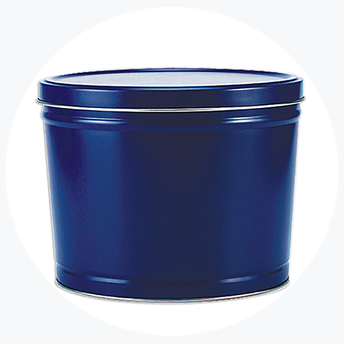 Solid Blue Popcorn Tin (2 Gallon - 2 Flavors)