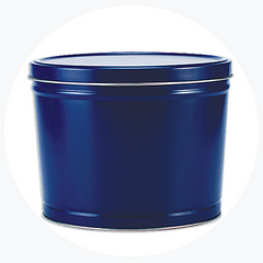 Solid Blue Popcorn Tin (2 Gallon - 3 Flavors)
