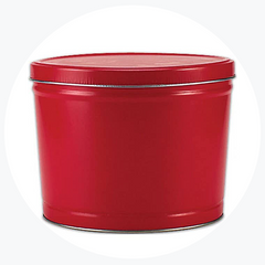 Solid Red Popcorn Tin (2 Gallon - 3 Flavors)