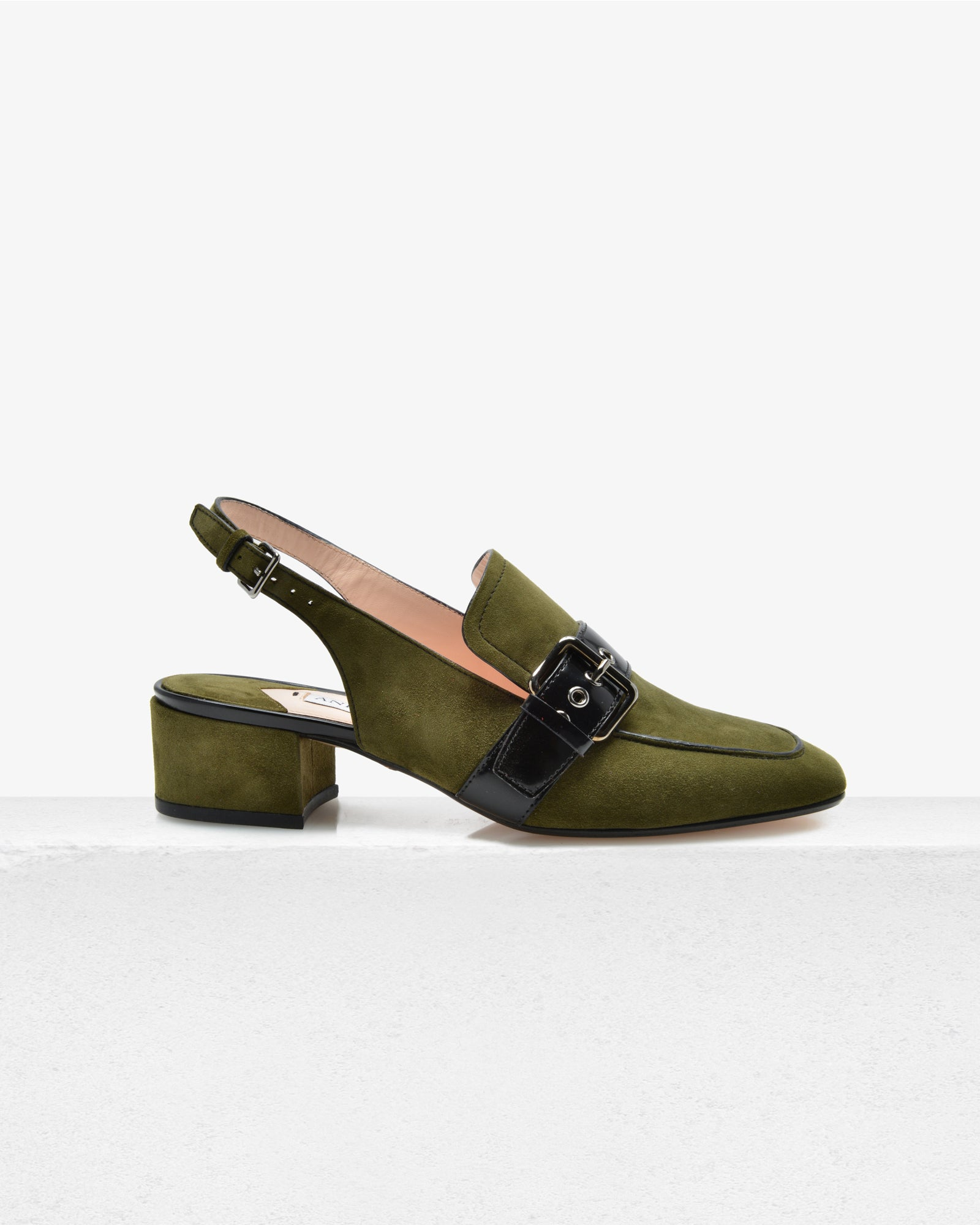 Fiona – Olive Suede