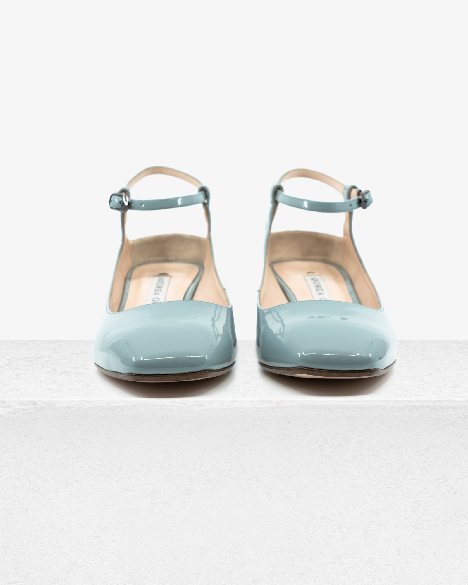 Flora Cloud Blue Patent Leather