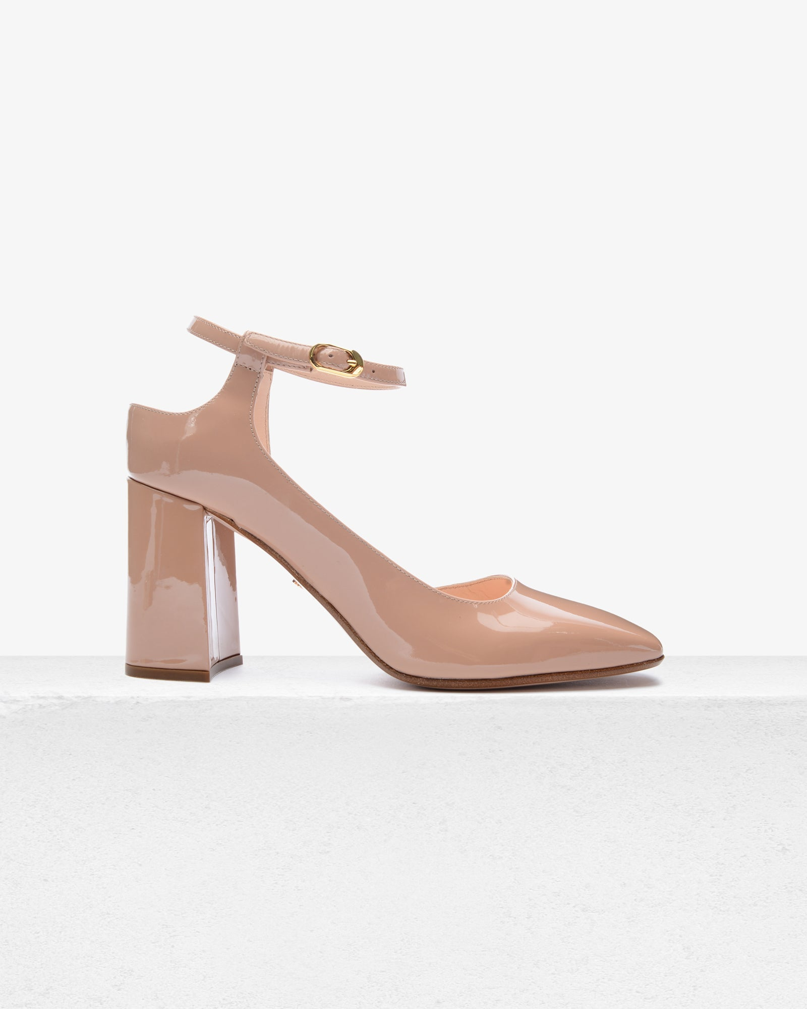 Gioia Nude Patent Leather
