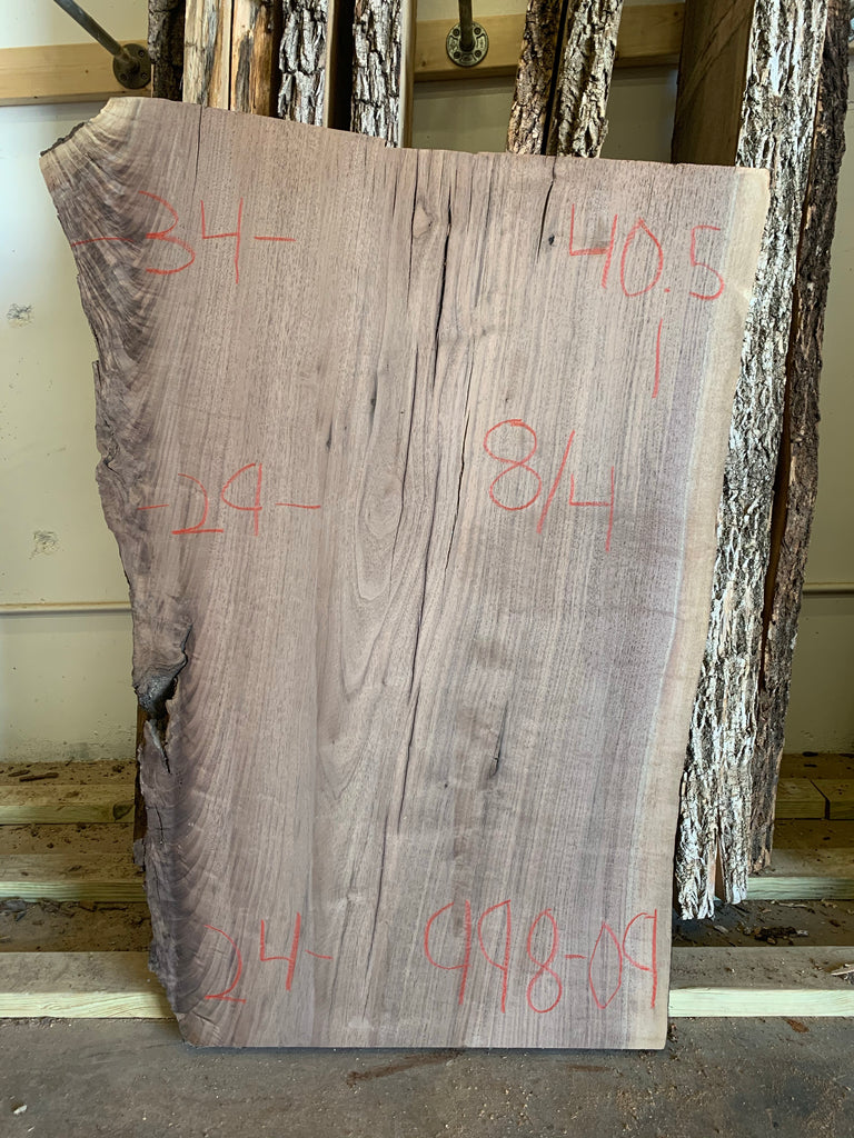Black Walnut Live Edge Slab 998-09