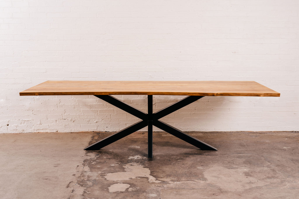 Elm Live Edge Dining Table