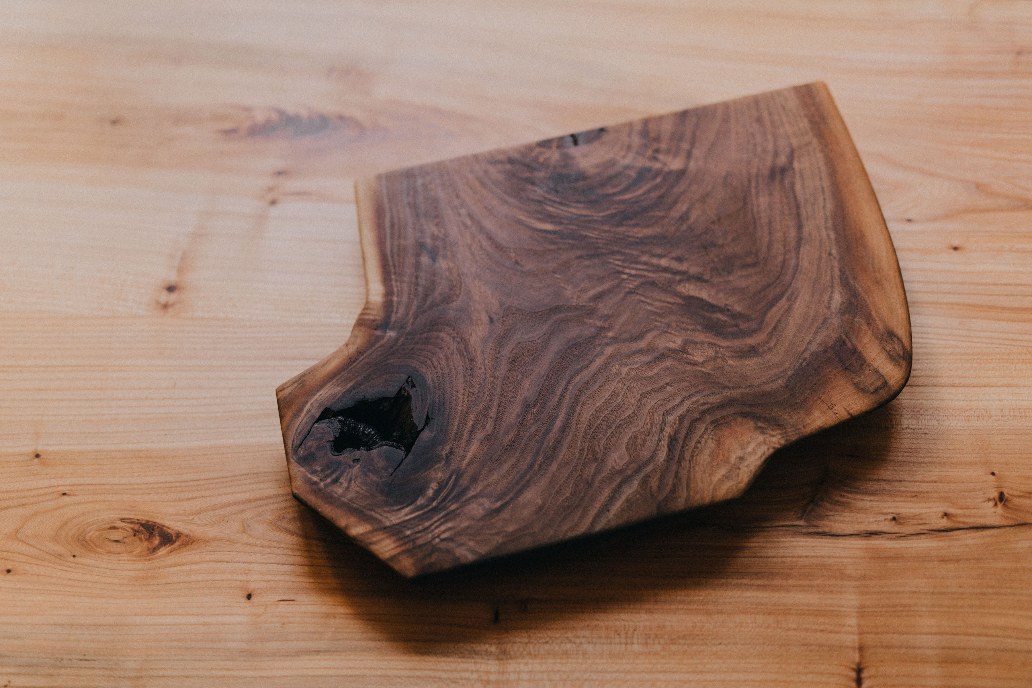 Thick Stock Live Edge Walnut Charcuterie Boards