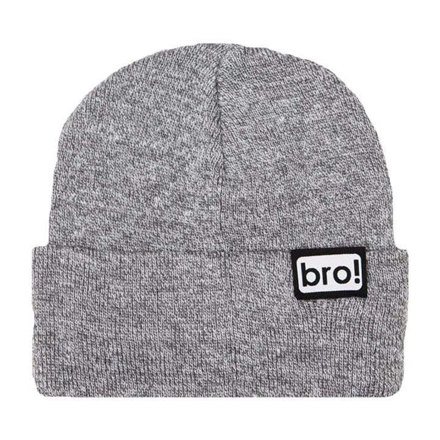 bro! bro Beanie heather grey - Wake Stoff