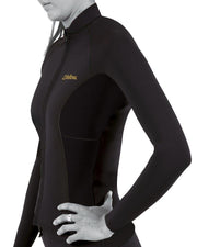 FOLLOW Atlantis Ladies FZ Wetty Top black 2020 - Wake Stoff