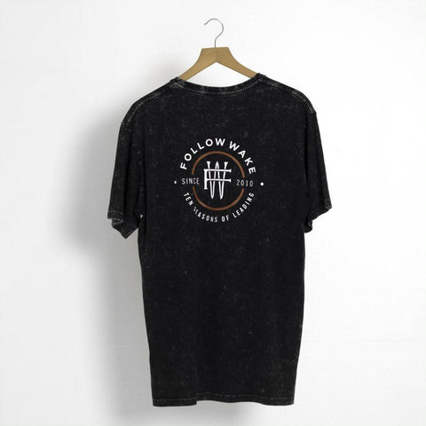 FOLLOW Leader Mens Tee black 2020 - Wake Stoff