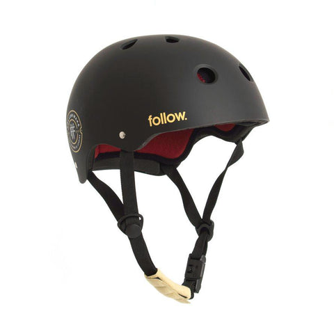 FOLLOW Pro Helmet black/maroon 2020 - Wake Stoff