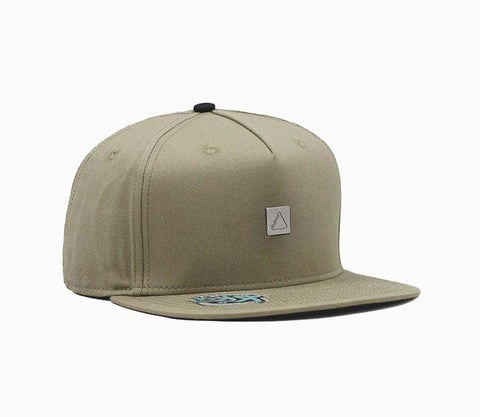 FOLLOW Stamped Formless Hat khaki - Wake Stoff