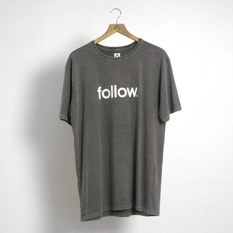 FOLLOW Stone Corp Mens Tee grey 2020 - Wake Stoff