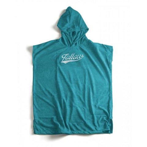 FOLLOW Towelie Poncho teal S 2020 - Wake Stoff