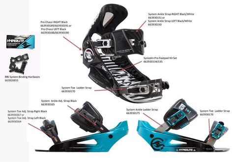 HYPERLITE Pro Chassis 6-9 RIGHT black - Wake Stoff
