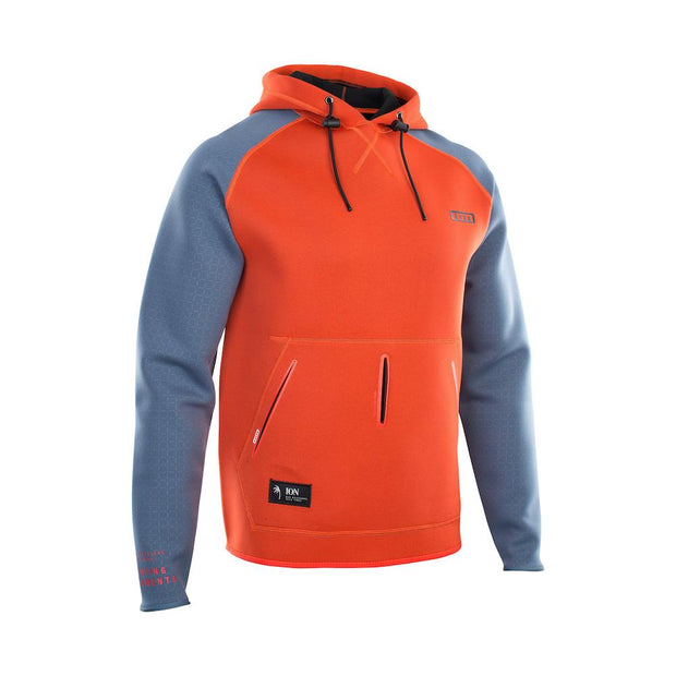 ION Neo Hoody Lite red/steel blue 2021 - Wake Stoff