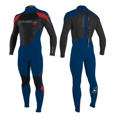 Oneill Youth Epic 5/4 Back Zip Full deep sea/red - Wake Stoff