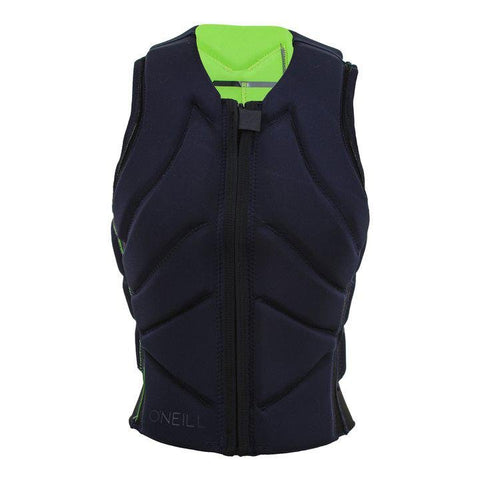 ONEILL Youth Slasher Comp Vest blk/green - Wake Stoff