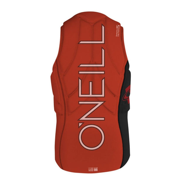 ONEILL Youth Slasher Comp Vest blk/neonred - Wake Stoff