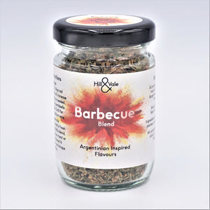 Barbecue spice blend in glass jar