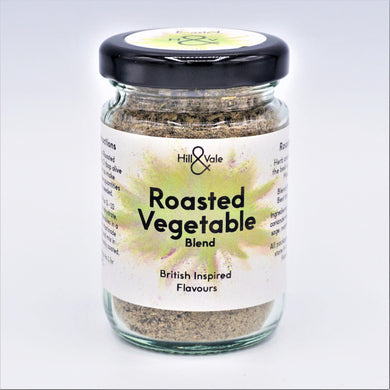 roasted vegetable spice blend in glass jar