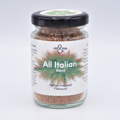 All Italian spice blend in glass jar