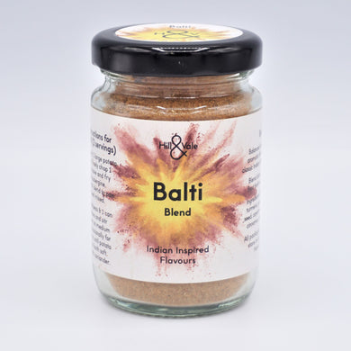 Balti spice blend in glass jar