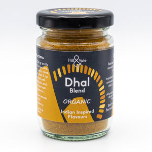 Dhal spice blend in glass jar