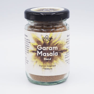 garam masala spice blend in glass jar