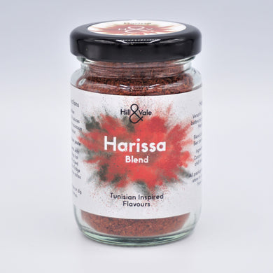 harissa spice blend in glass jar