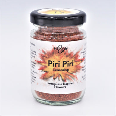 piri piri spice blend in glass jar