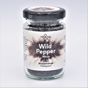 wild pepper single origin spices in glass jar