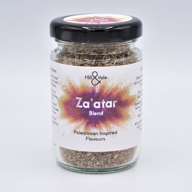 zaatar spice blend in glass jars