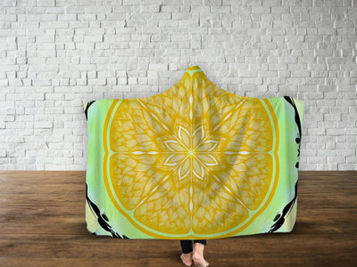 Yellow Mandala Psychedelic Hooded Blanket